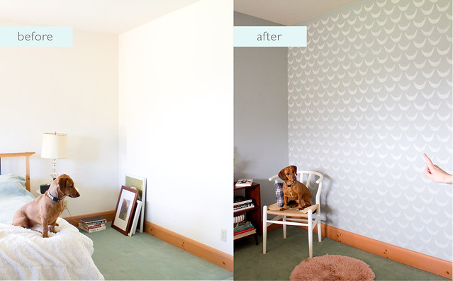 DIY Wall Stenciling - Before and After