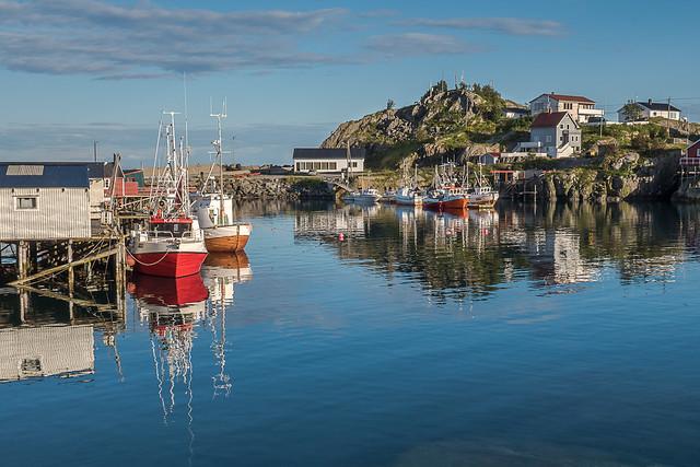 Hamnøy Harbour Reflections