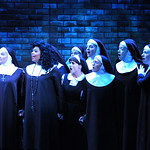 Sister Act Credit P. Switzer Photography 2016 - Megan Van Dey Hey (Mother Superior), Brit West (Deloris), Emma Martin (Mary Robert), Kitty Skillman Hilsabeck (Mary Lazarus) and ensemble.