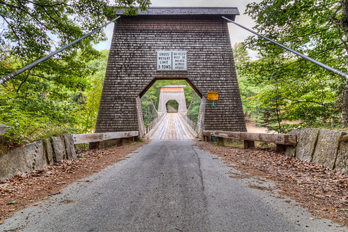 bridge canon landscape maine landmark historic hdr 6d somersetcounty wirebridge newportland carrabassettriver