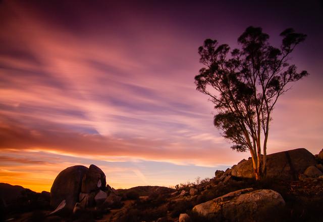 Santee Boulder Sunset 120814 © Michael Klayman 2014- 01
