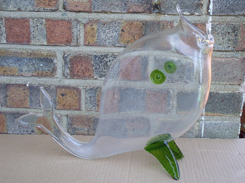 Large Mid Century Modern Art Glass Fish ....Blenko ?