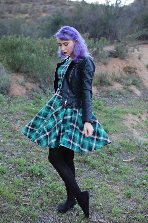 Luck Be A Lady dress in Geen Plaid