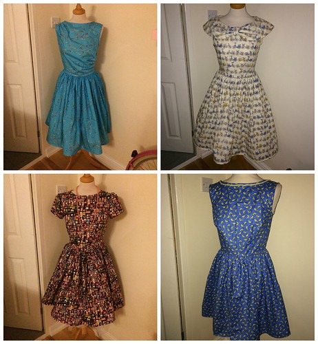 November Dresses Collage