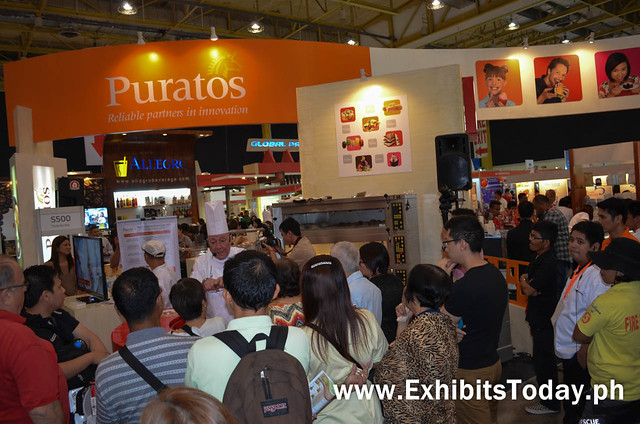 Baking Demo at Puratos Trade Show Booth