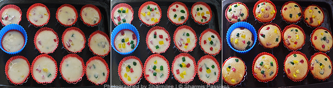 How to make Tutti Frutti Cupcake - Step4