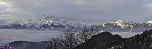 De belles montagnes suisses dans le Chablais valaisan (CH)
