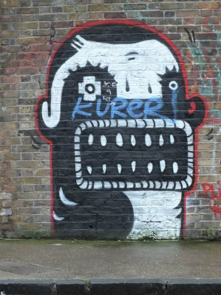 Plin Street art in Shoreditch, London.