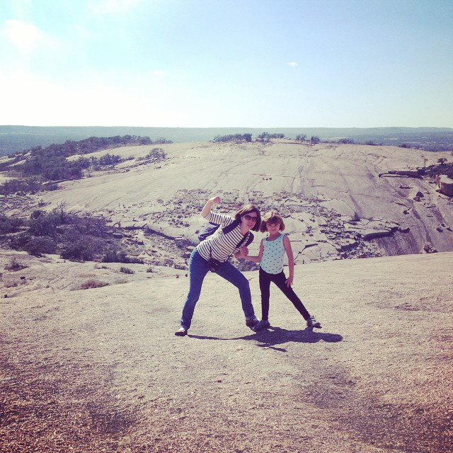 Climbed to the top of Enchanted Rock today with this girl!! Look out world, Bea is ready for you!