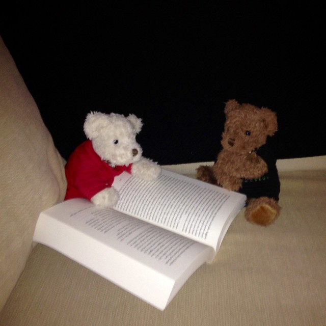 Bianca is reading. Bruno is puzzled