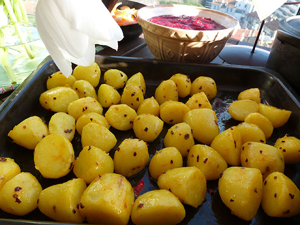 pommes de terres curcuma