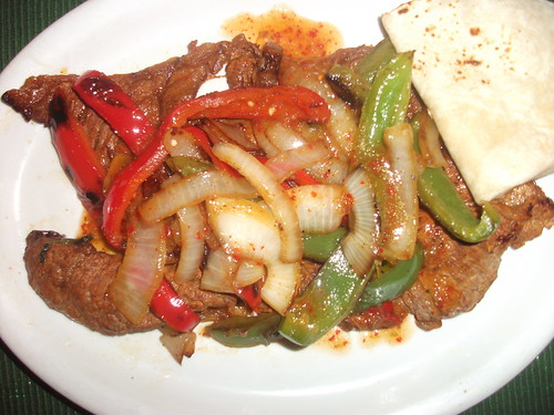 Carne Asada with Peppers and Onions
