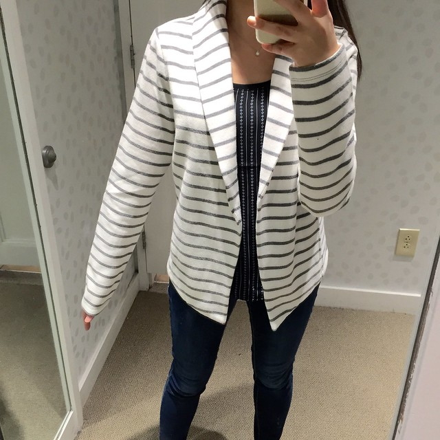 Lou & Grey Brushstripe Jacket, size XS