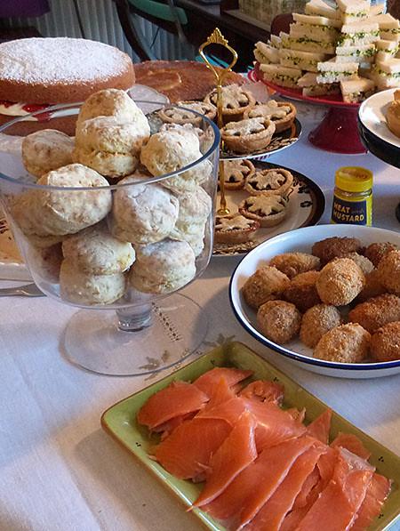 scones et saumon fumé