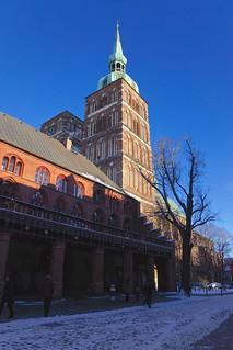 Historic city hall and the church of St. Nikolai in Stralsund, Mecklenburg-Vorpommern, Germany
