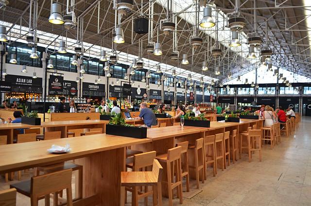 Inside Mercado da Ribeira, Lisbon, Portugal