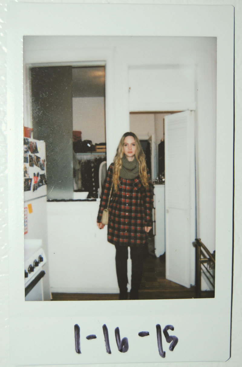 RedPlaidShirtDress_FujifilmInstax