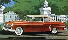 automobile, automotive exterior, pontiac chieftain, vehicle, plymouth cranbrook, antique car, sedan, classic car, vintage car, land vehicle, luxury vehicle,