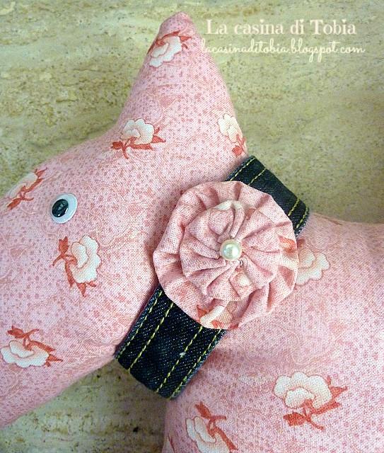 cagnolino fermaporta in stoffa handmade