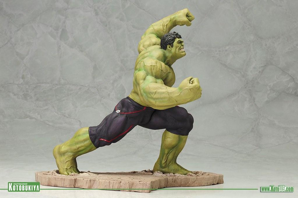 壽屋 ARTFX+ 系列【浩克】復仇者聯盟2:奧創紀元 1/10 比例 全身雕像 Smash!!
