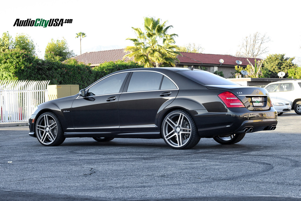 "miust see** 2012 mercedes benz s 63 amg on 22"" road force rf005 gm"
