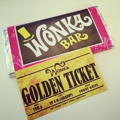 Workmate gave me this today. I've got a golden ticket! #wonka