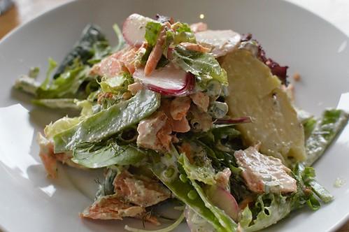 Smoky paprika baked salmon salad