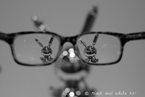 Myopic vision II - myopic self portrait - Shiny rabbit
