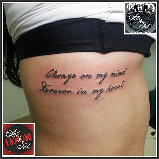 Frase Costillas Tattooarteypiel Tatuajes Artisticos Leviathoth