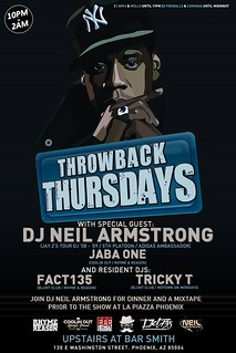 3/12 - Throwback Thursdays at Bar Smith PHX - #DinnerAndAMixtape Afterparty