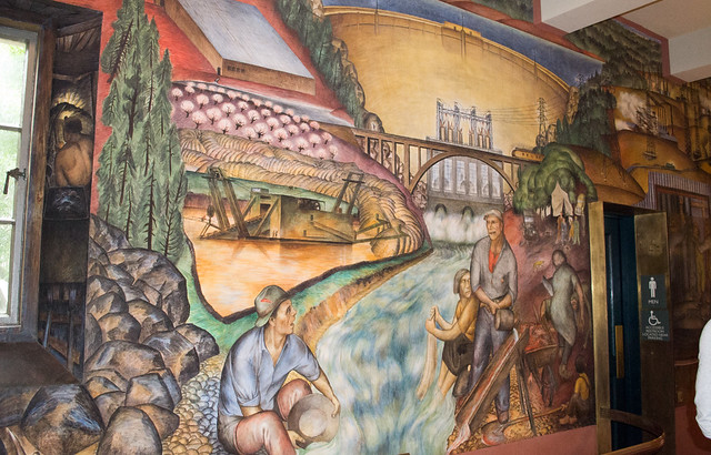 Sf coit tower wpa mural 1276 flickr photo sharing for Coit tower mural