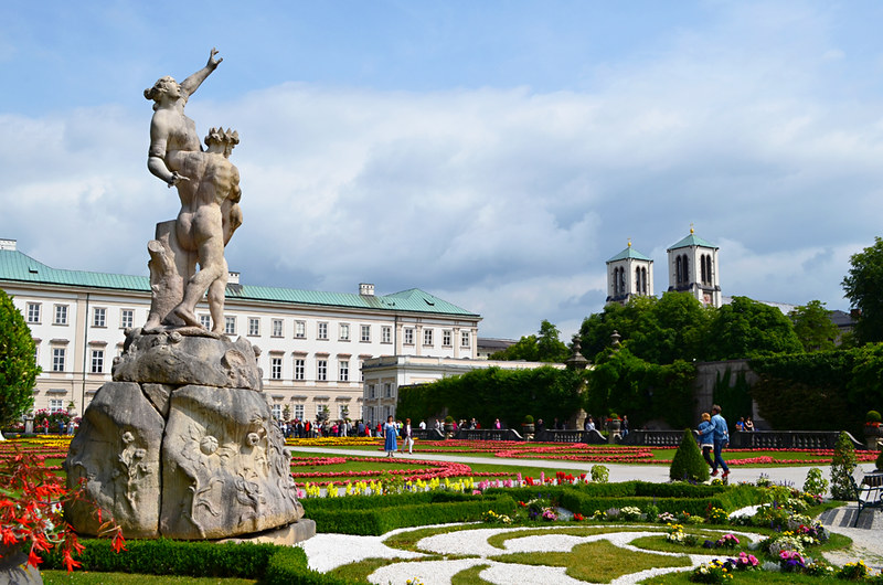 Statue, Mirabell Palace and Gardens, Salzburg, Austria