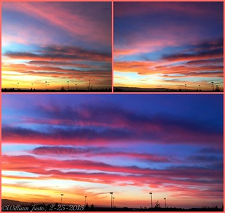 A Fiery Sunset Sky Painting Over The City This Evening! (2-25-15) Collage #7