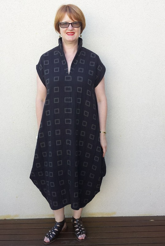 Style Arc Toni Designer dress in Thai cotton double gauze