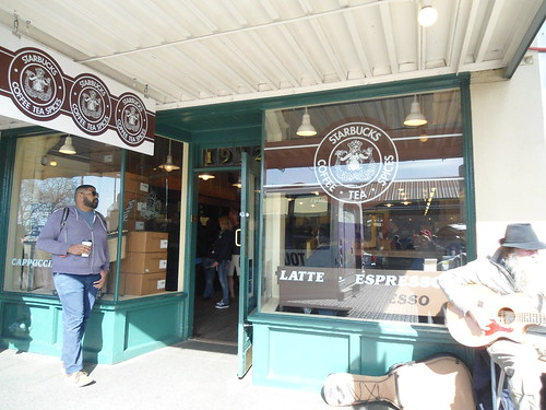 The Original 1971 Starbucks location at Pike Place in Seattle, WA