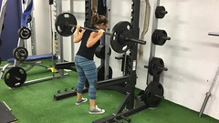 Just because I\'m sick doesn\'t mean I\'m skipping #squats today! Heavy-ish 5x5, then Anderson 3x8, then #germanvolumetraining 10x10 #xxfitness #girlswhopowerlift #squat #squatsunday