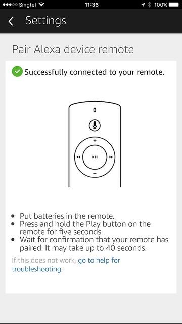 Alexa iOS App - Setup Remote