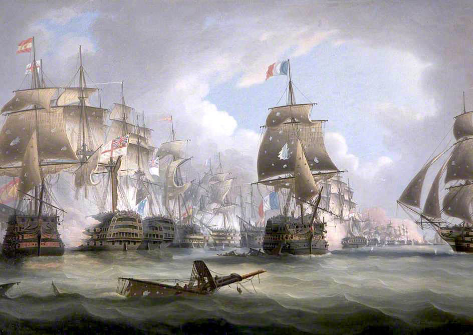 Battle of Trafalgar, 21 October 1805 by Thomas Buttersworth
