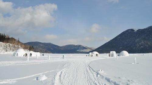 winter lake snow japan nikon hokkaido village igloo 2010 kotan shikaribetsu d5000