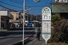 名栗街道の永田大杉バス停の横断歩道を渡って吾妻峡へ