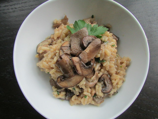mushroom risotto on twothirtyate.com