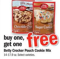 Betty Crocker Cookie Pouches 0 48 Ea At Meijer 12 5 And 12 6 With