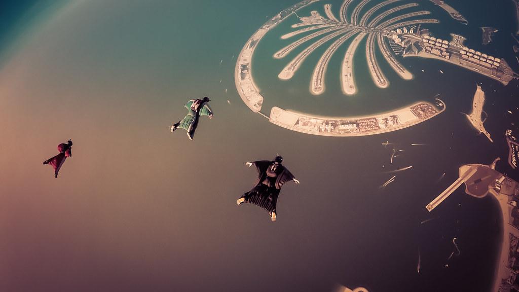 Wingsuiting Over Palm Jumeirah