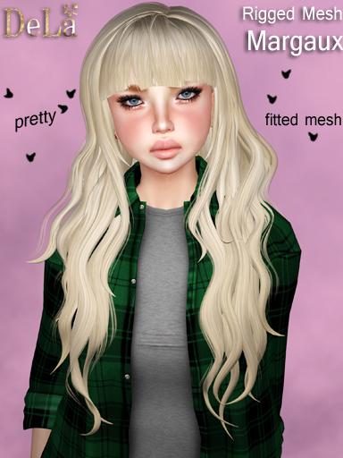 "=DeLa*= New rigged mesh hair ""Margaux"""