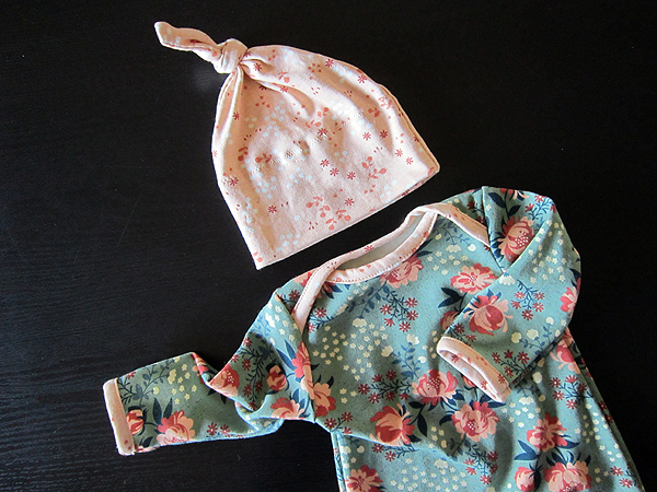 Birch Knits baby gowns