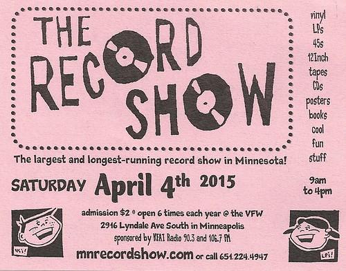 04/04/15 The Record Show @ LynLake VFW, Minneapolis, MN