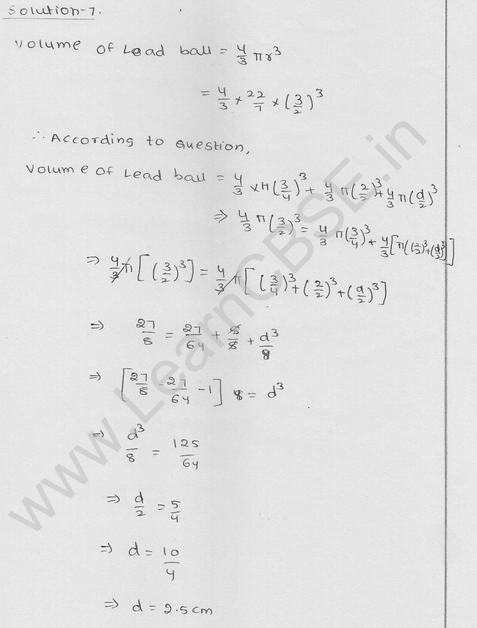 RD Sharma Class 9 solutions Chapter 21 Surface Area and volume of A Sphere Ex  21.1 14
