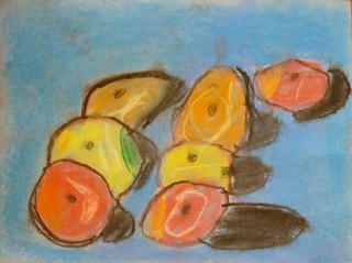 Cezanne's Apples in Pastel Chalks