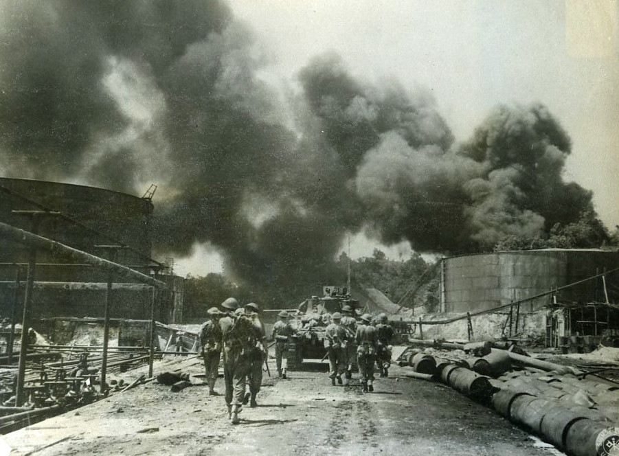 royal dutch shell oil refinery - balikpapan  borneo