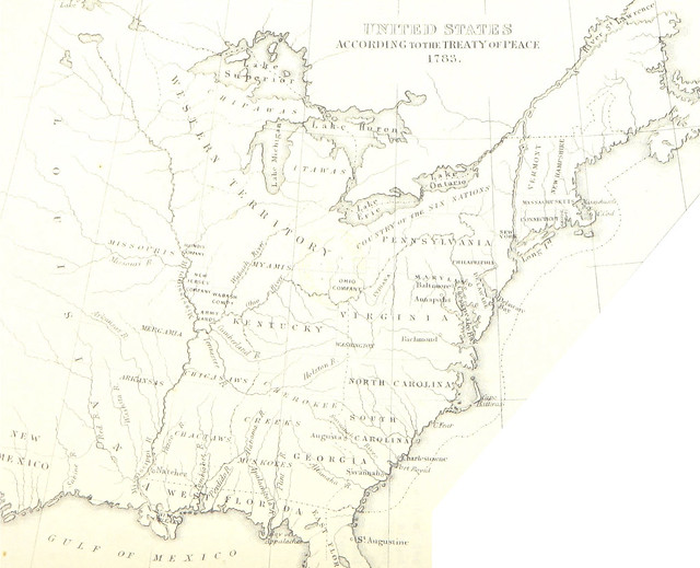 1783 Map of US Eastern Seaboard